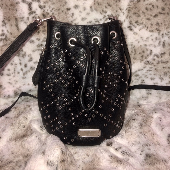 Marc Jacobs Handbags - Marc Jacobs Crossbody Studded Black Bucket Bag